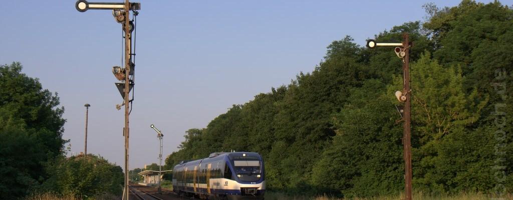 VT732 der NEB in Müncheberg