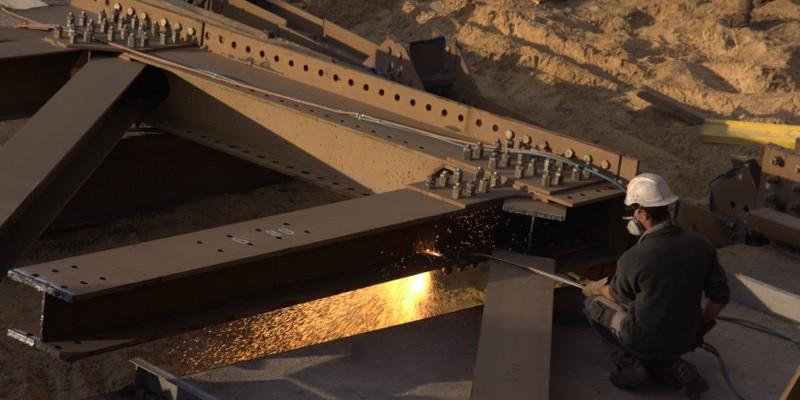 Zerlegung der alten Steinfurther Brücke