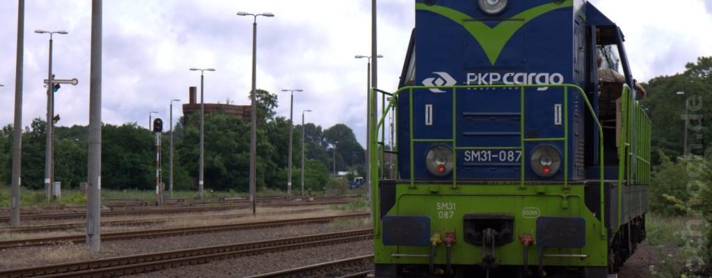 Dieselloks der Reihe SM31 in Kostrzyn nad Odrą