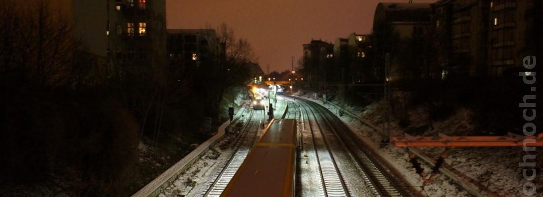 Ringbahn kurz vor der Prenzlauer Allee