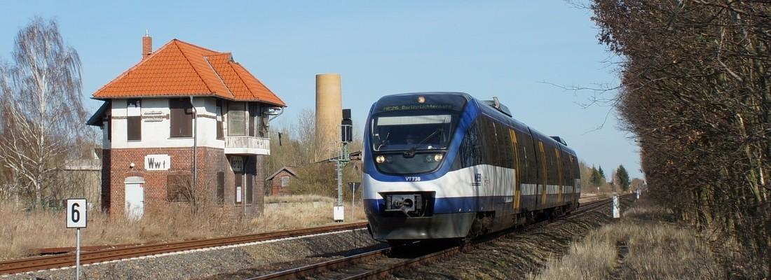 VT 738 der Oderlandbahn in Werbig