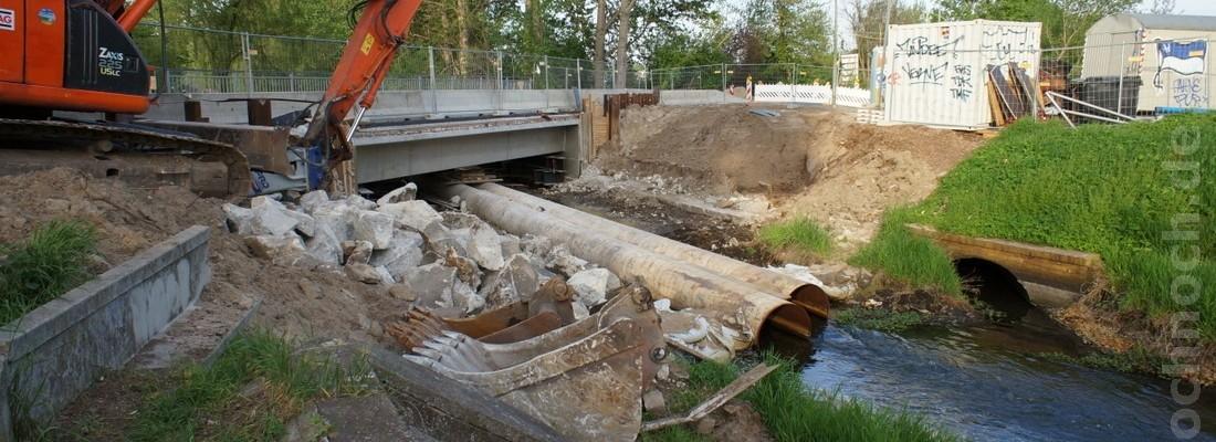 Abriss der Pankgrafenbrücke