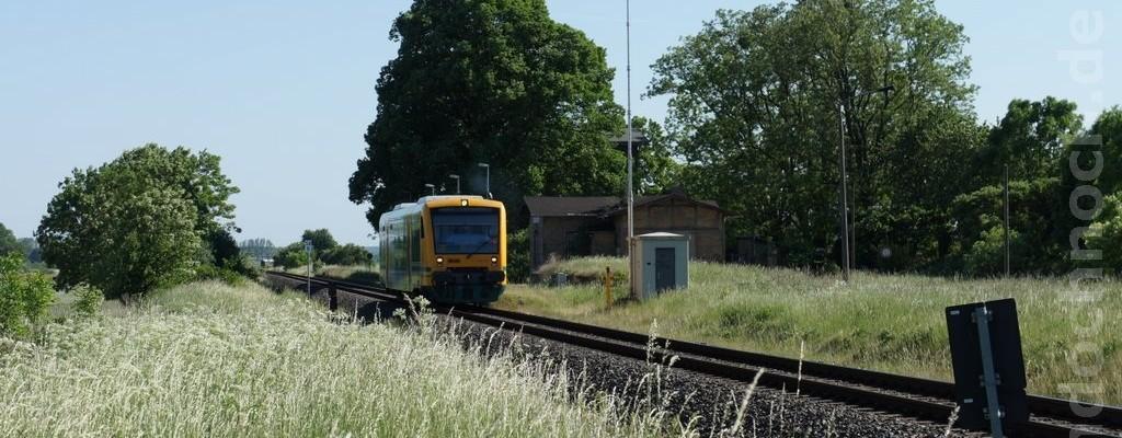 VT650.68 der ODEG durchfährt den Bahnhof Golzow