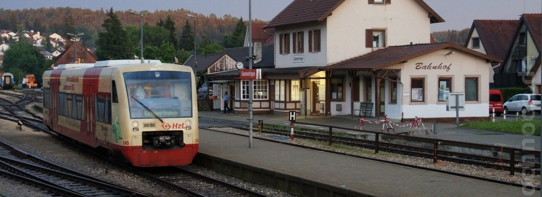 Regioshuttle VT 245 der HZL in Gammertingen