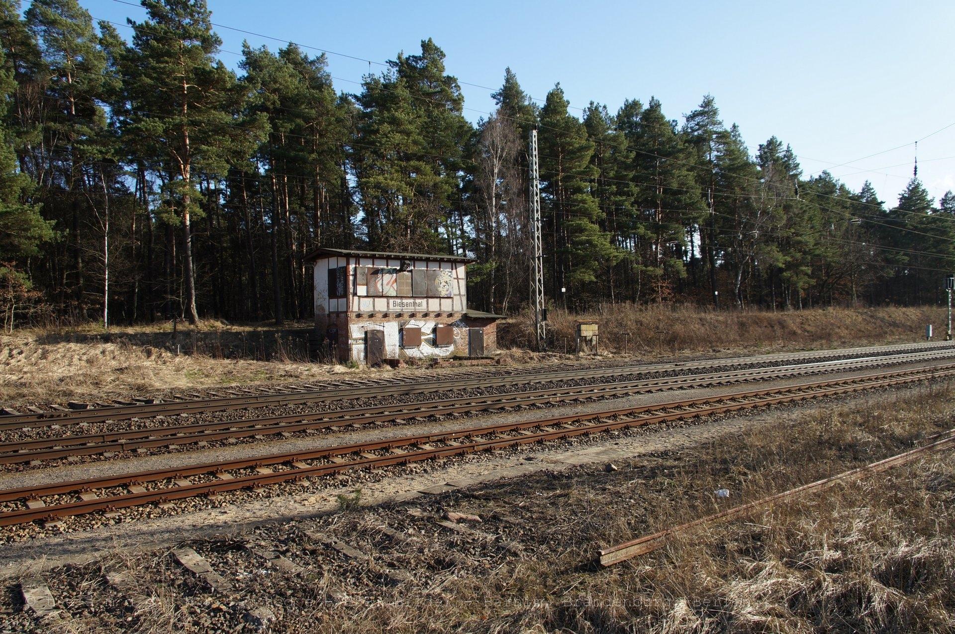 nördliches Stellwerk am Bahnhof Biesenthal
