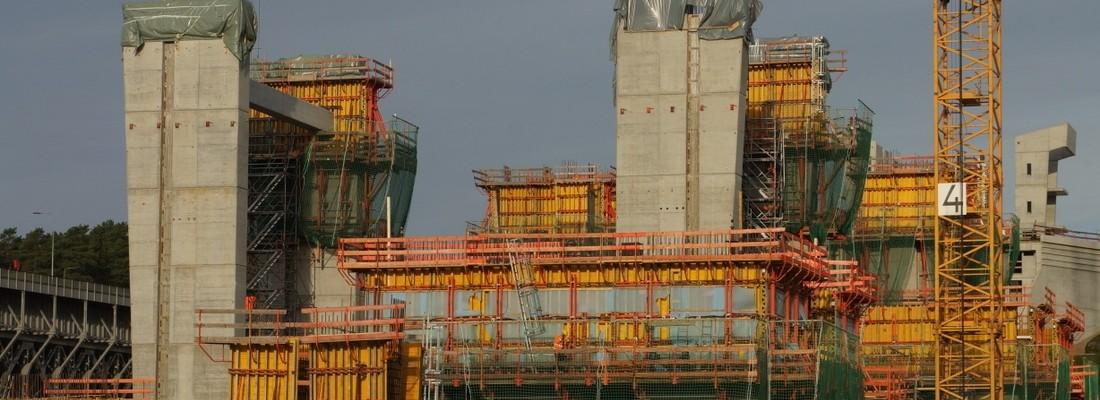 Morgenstimmung am Schiffshebewerk Niederfinow