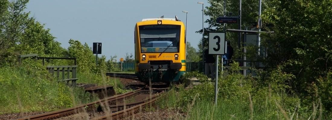 VT 650.63 der ODEG im oberen Bahnhof Werbig