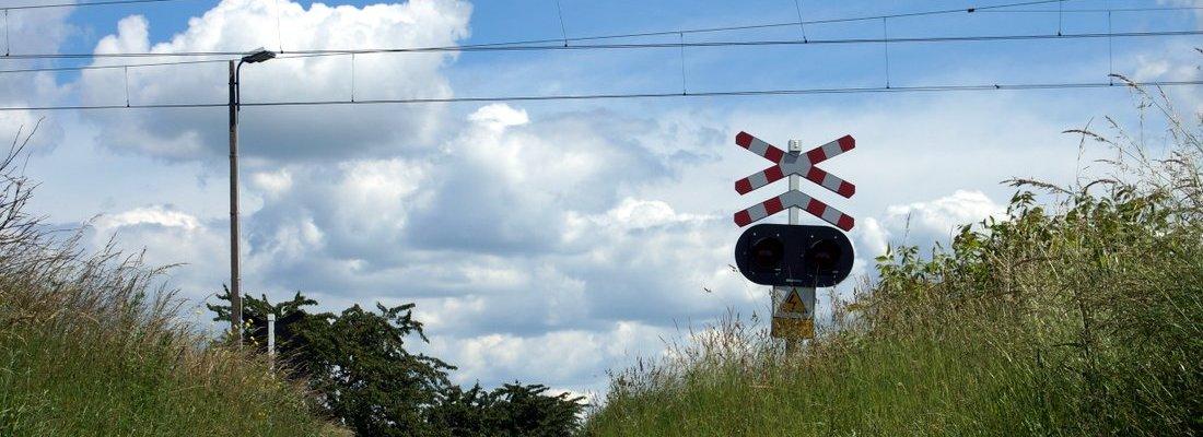 Bahnübergang südlich von Stare Bojanowo