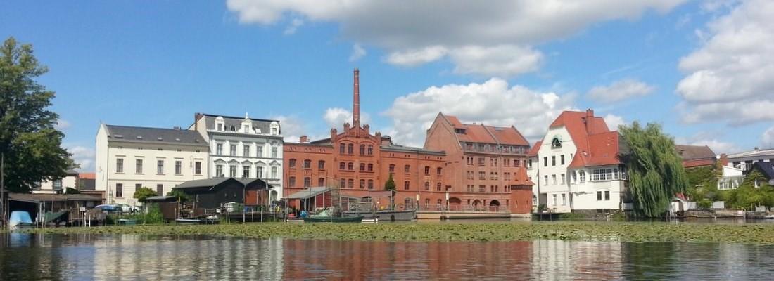 Brandenburg an der Havel vom Wasser aus