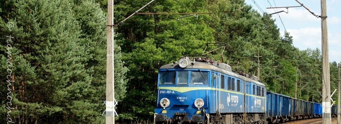 ET41-107-A auf der Bahnstrecke Wrocław–Szczecin