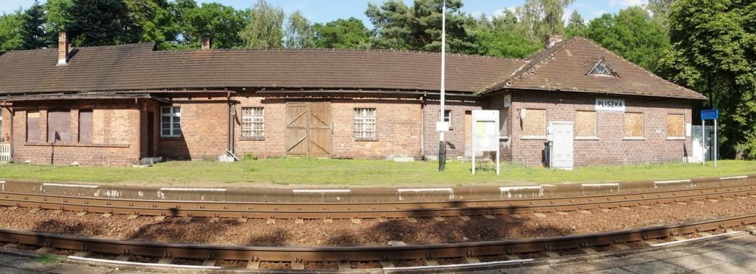 Bahnhof Pliszka als Panorama