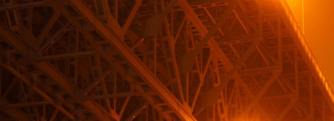 Stahlfachwerk des alten Schiffshebewerk Niederfinow