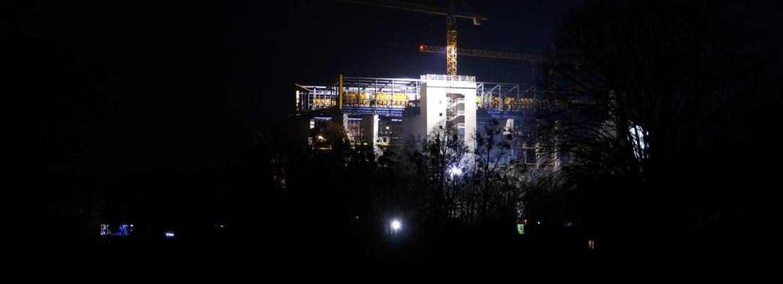 Nachts am Schiffshebewerk Niederfinow