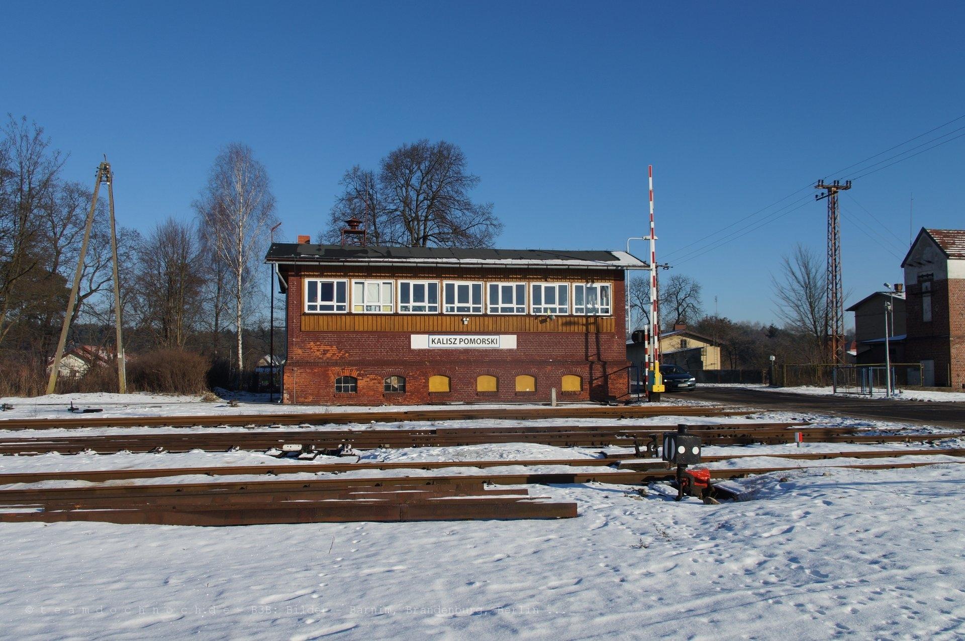 Stellwerk in Kalisz Pomorski