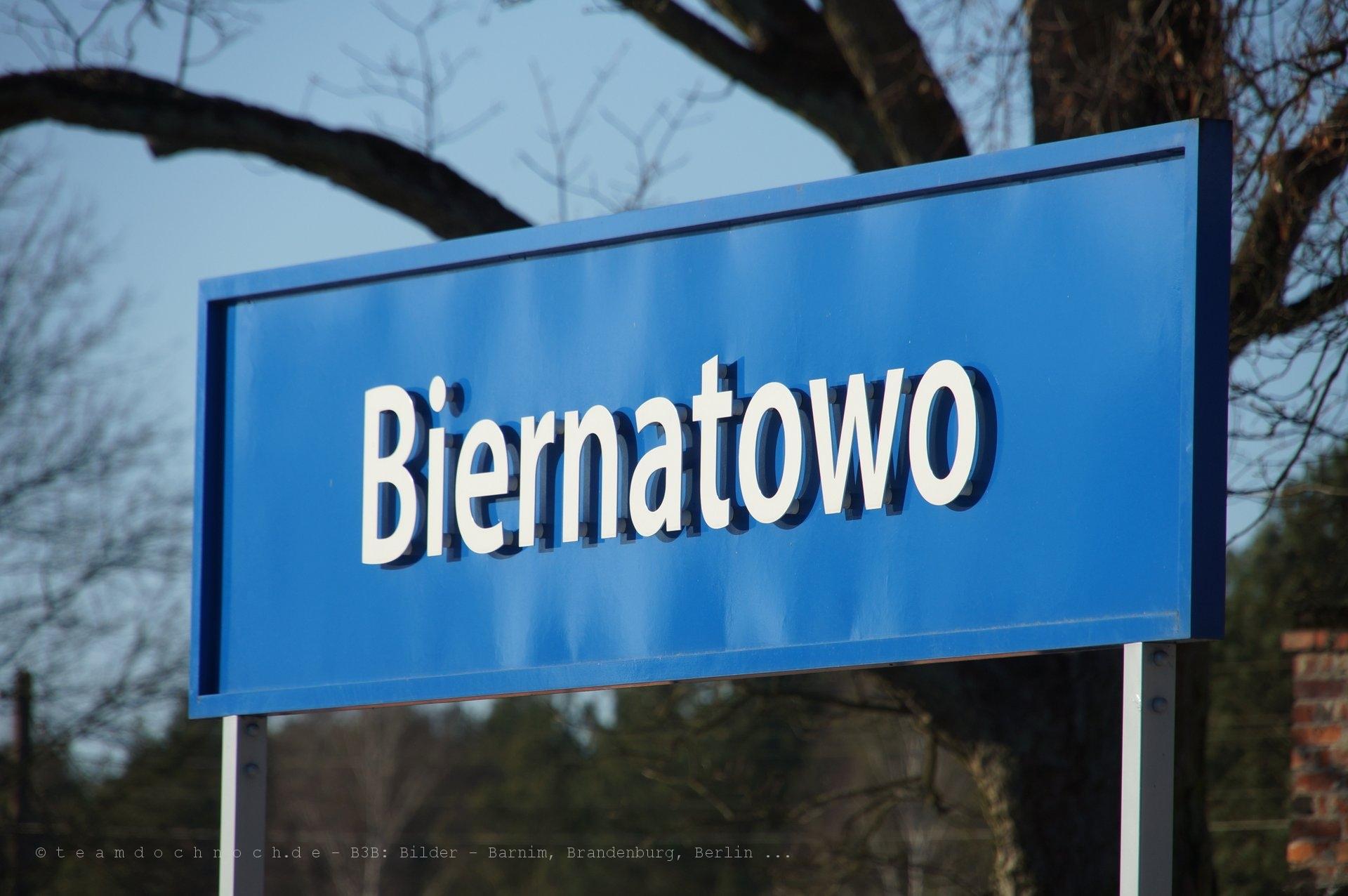 Bahnhof Biernatowo an der Ostbahn