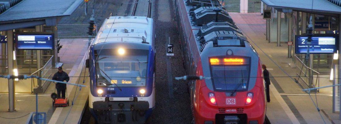 Bahnhof Eberswalde um kurz nach sechs