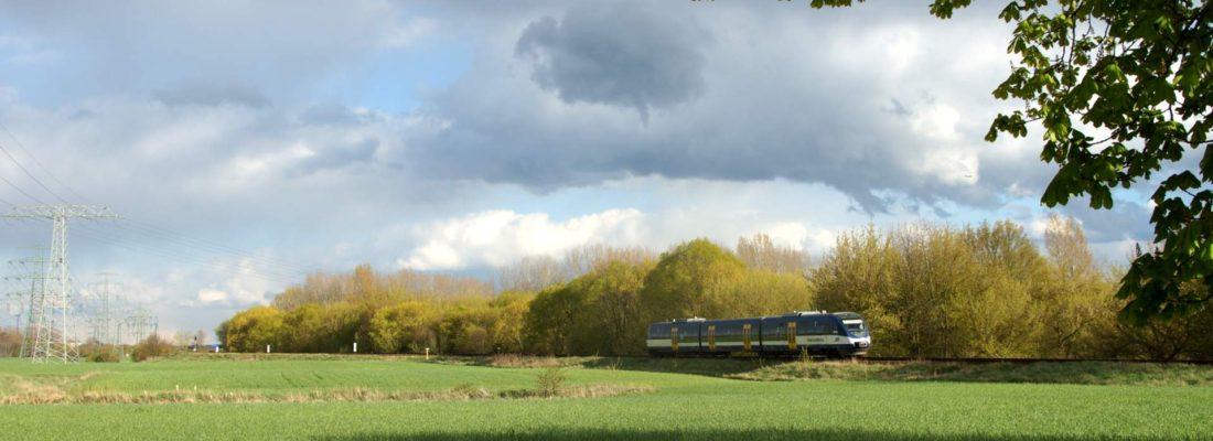 NEB VT738 am Bahnübergang Hobrechtsfelder Chaussee / L1135