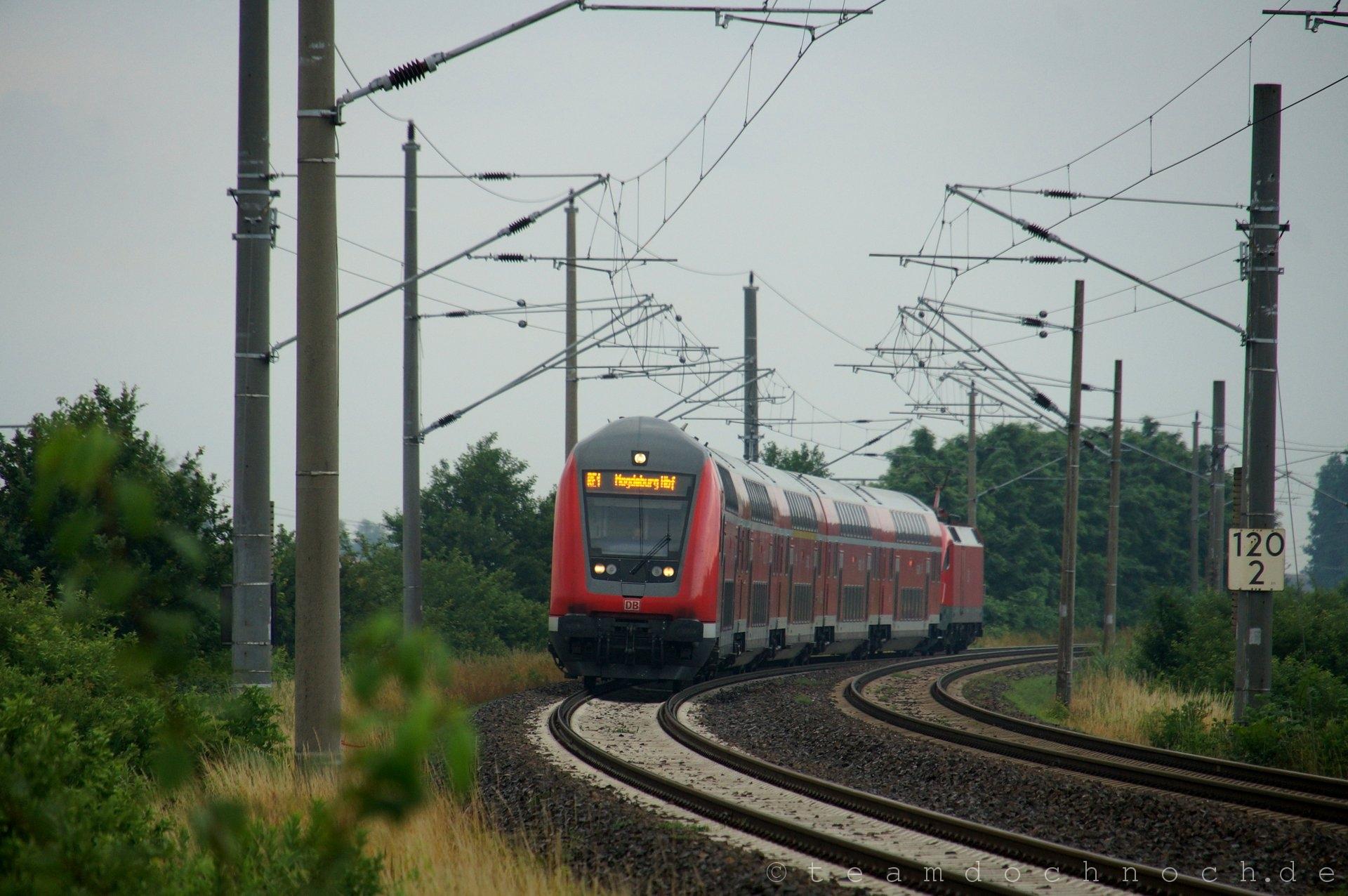 RE1 nach Magdeburg bei Breslack (Amt Neuzelle)