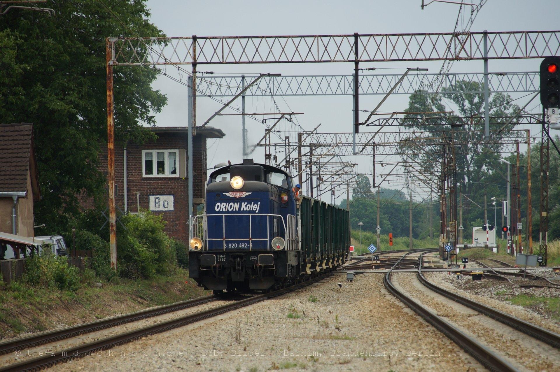 SM42 2167 / 3 620 462-8 von ORION Kolej fährt in den Bahnhof von Bytom Odrzański