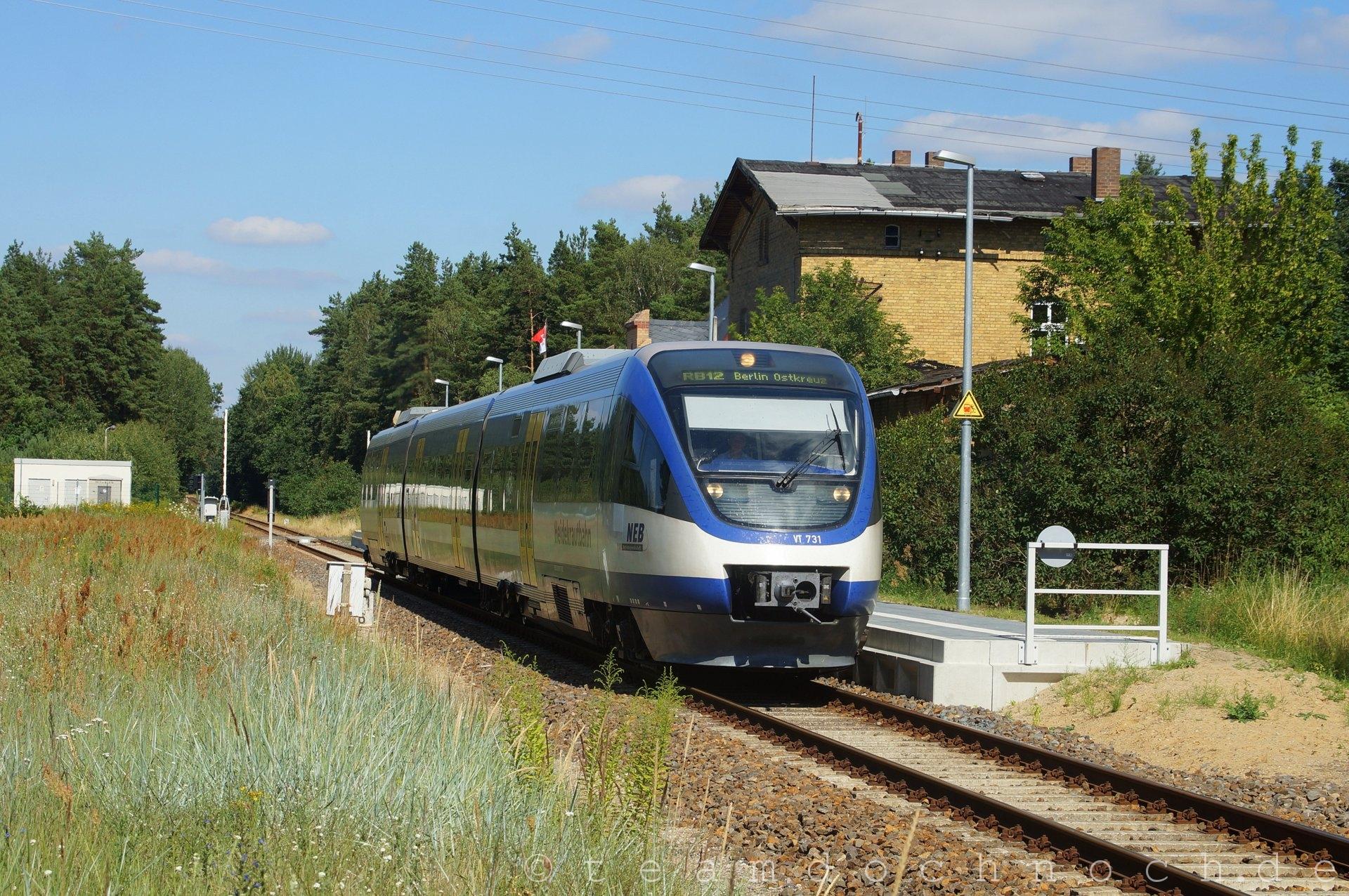 VT 731 der NEB in Zehdenick Neuhof