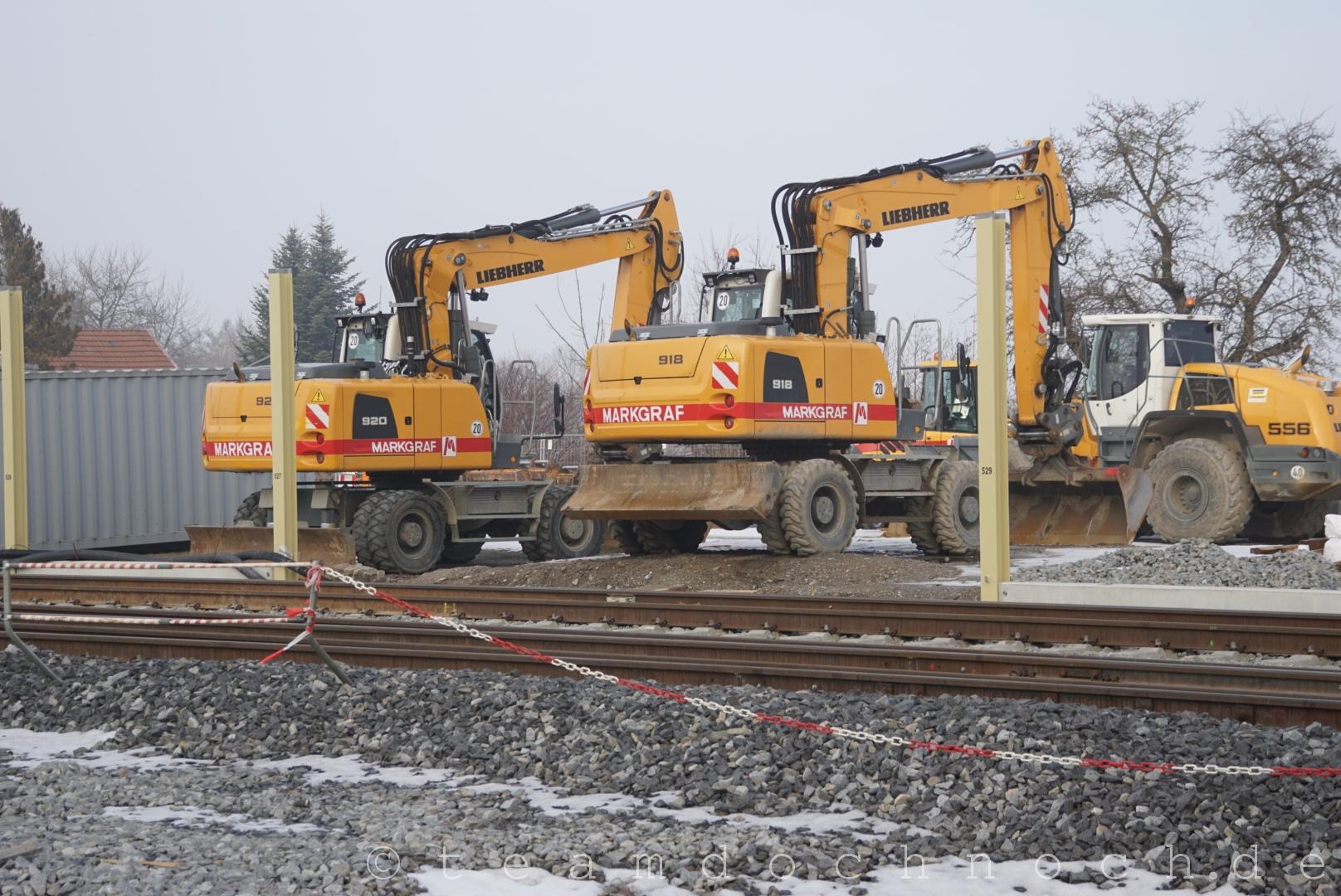 Bauarbeiten in Tüßling