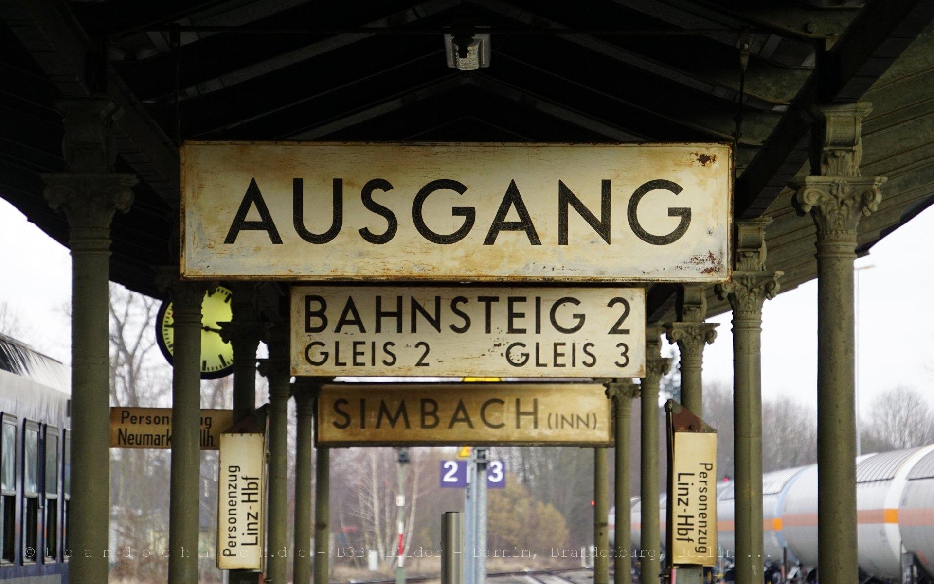 Ausgang Bahnsteig 2 Simbach (Inn)