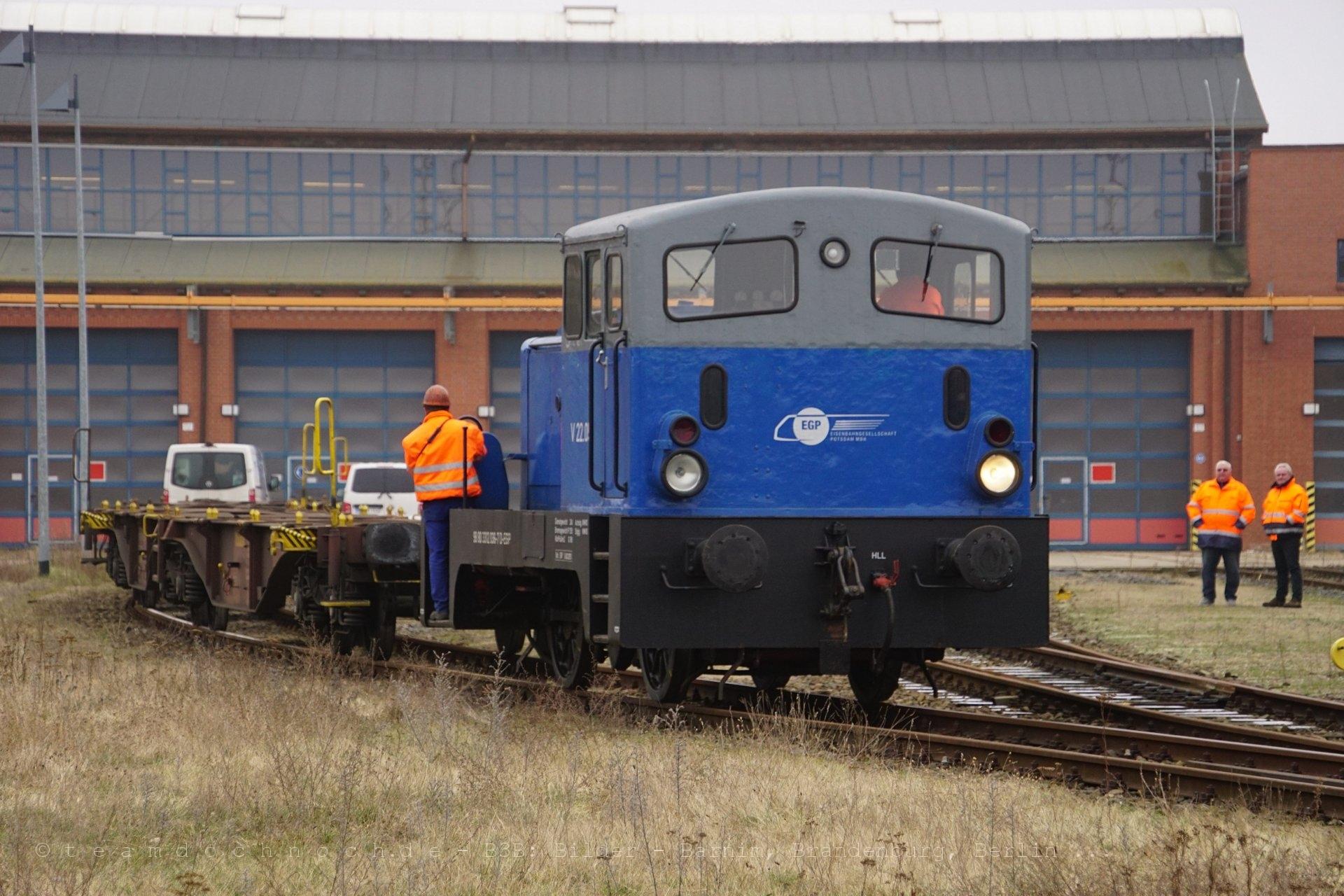 Bewegung auf dem Gelände des Eisenbahnwerk Eberswalde GmbH