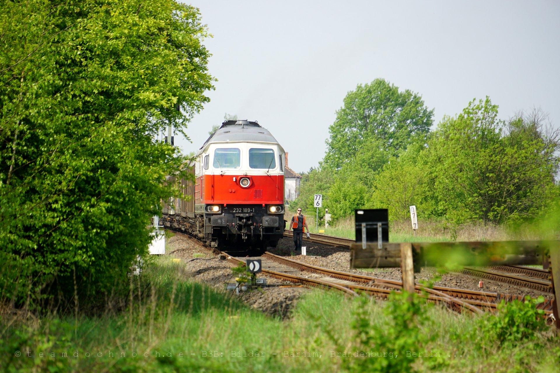 232 189-1 im Bahnhof Gorgast