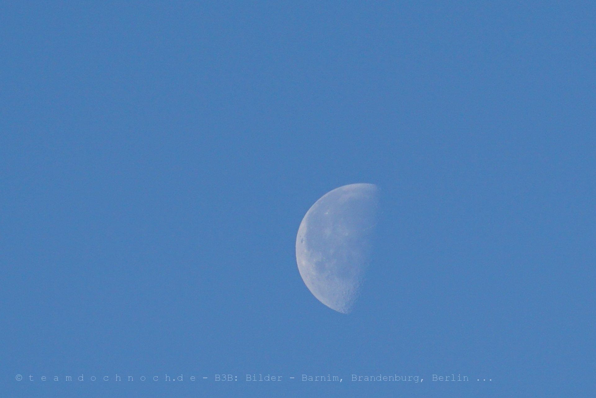 Noch nicht halb der Mond