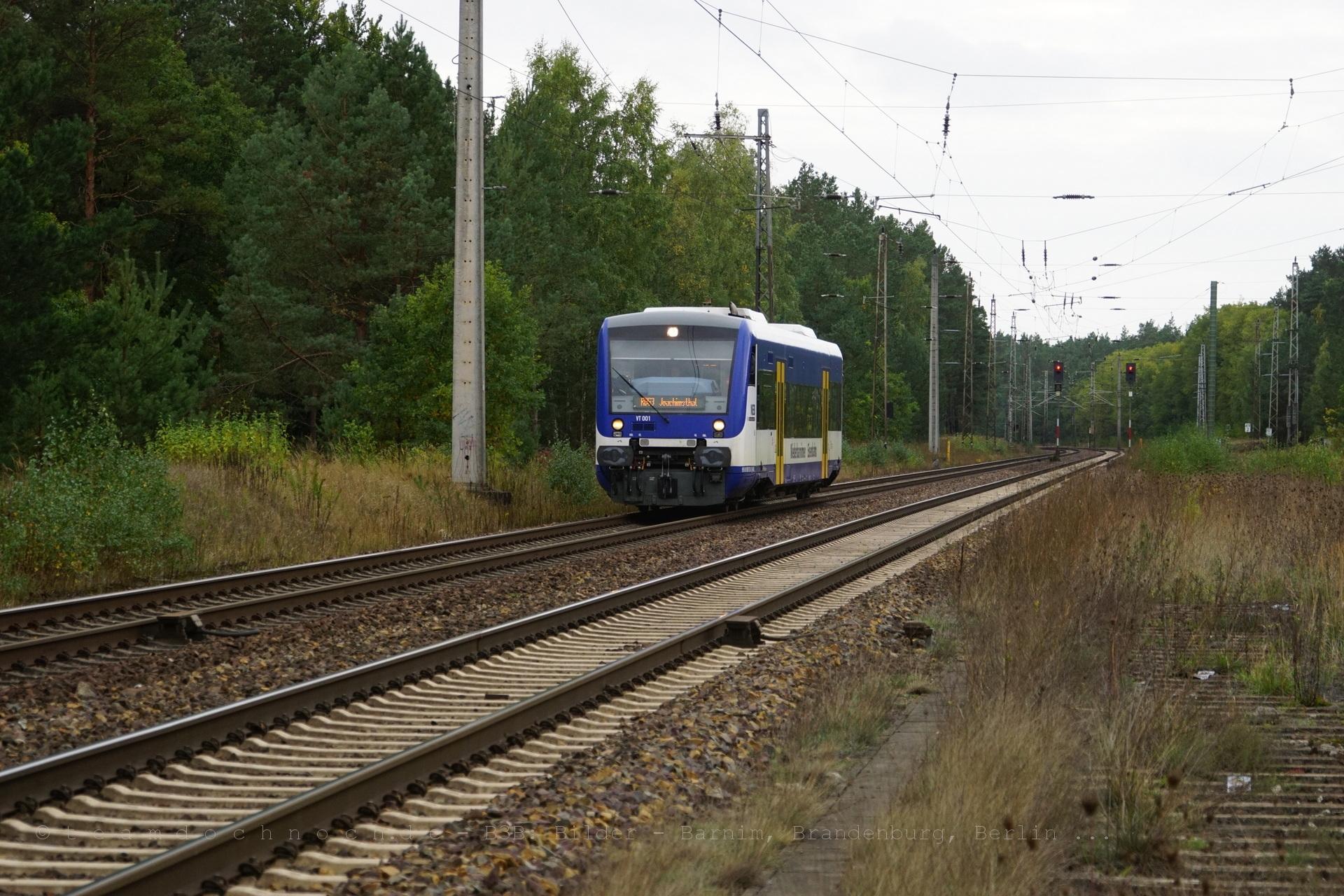 NEB VT 001 auf dem Weg nach Joachimsthal