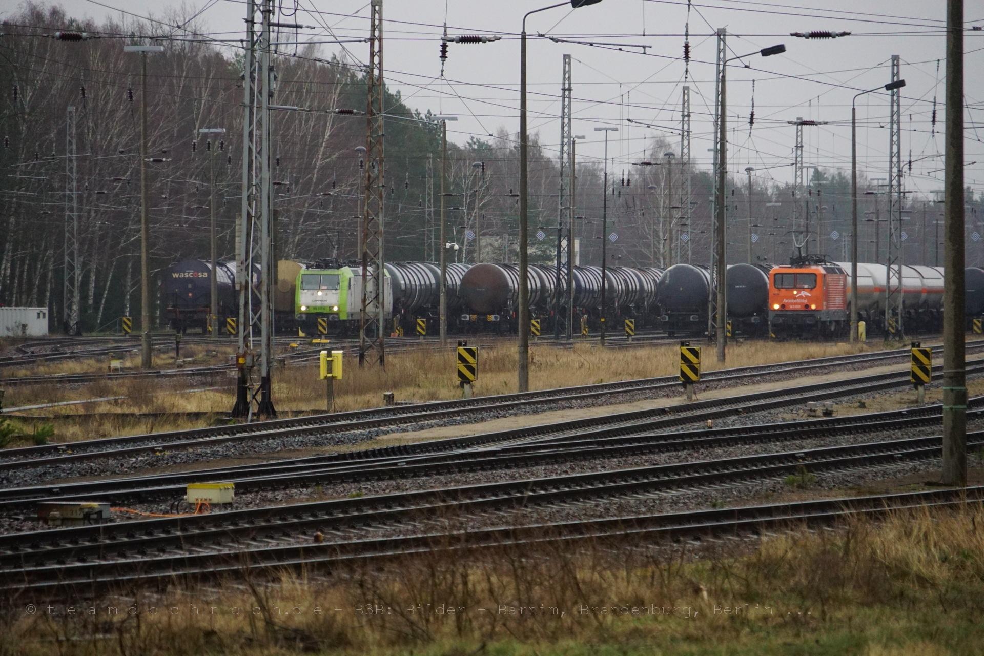 Ein Blick auf den Güterbahnhof Stendell
