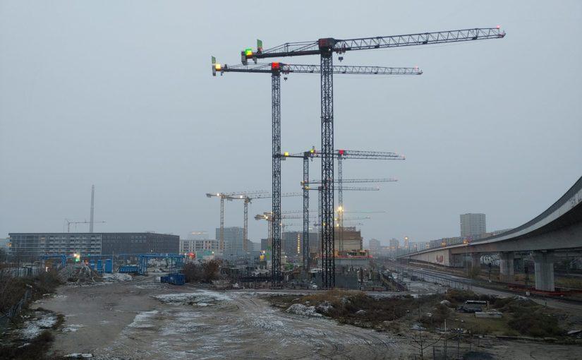 Baustelle nördlich des Hauptbahnhofs