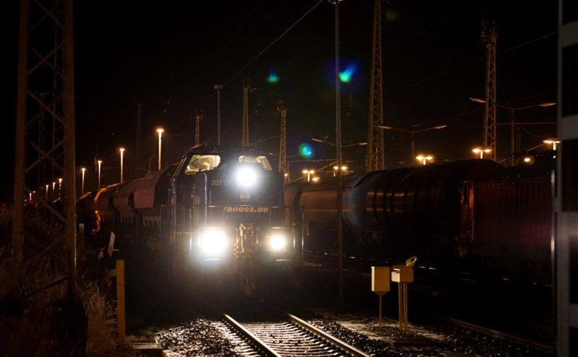 Raildox 203 126-8 wartet in Angermünde