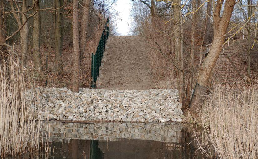 Heberkaskade am Mäckersee zurückgebaut