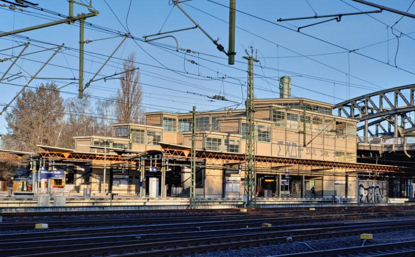 S-Bahnhof Bornholmer Straße in der Morgensonne