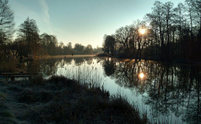 frostiger Morgen am Finowkanal