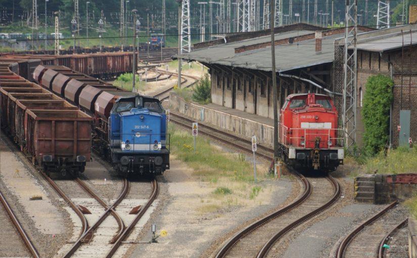 EGP 202 547-6 und DB AG 298 330-2 in Eberswalde