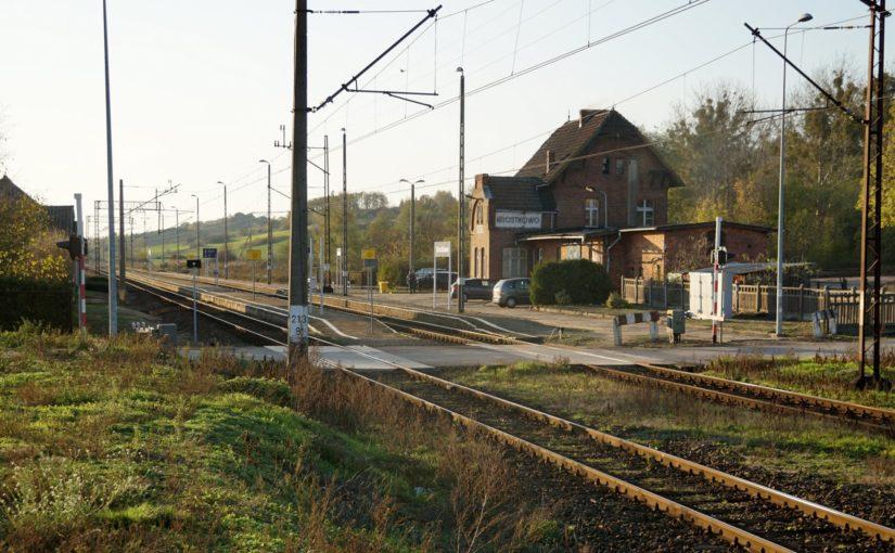Der Bahnhof von Krostkowo (Powiat pilski)