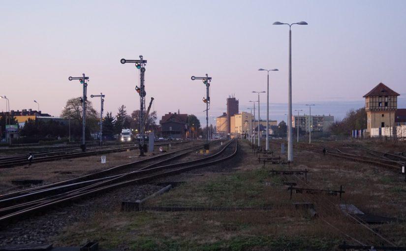 Der Bahnhof von Wałcz