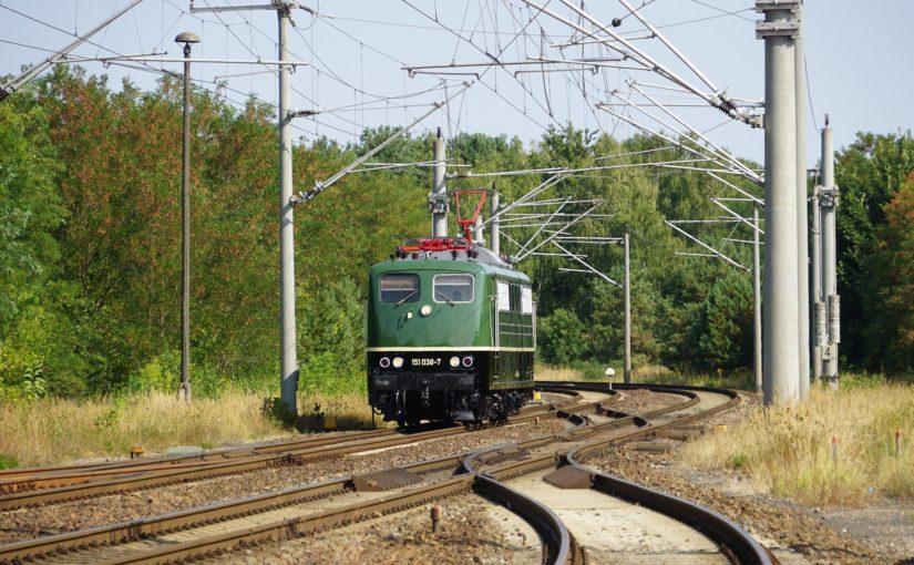 151 038-7 als Leerfahrt in Fürstenberg / Havel