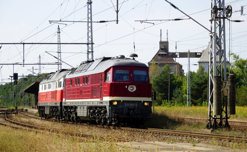 232 601-5 und 232 141-2 in Fürstenberg / Havel