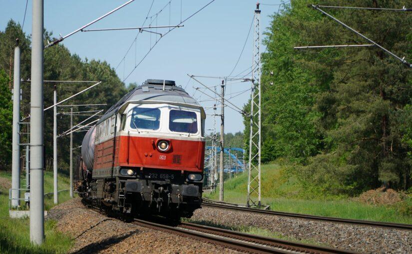 232 658-5 mit einem gemischten Güterzug in Dannenwalde