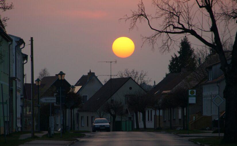 Die Sonne steht tief in Finowfurt