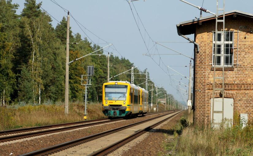 ODEG VT650.82 am Bahnübergang Wildtränke