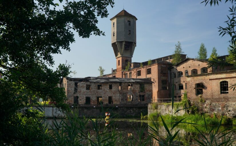 Wasserturm an der Papierfabrik